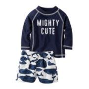 Carter's® 2-pc. Rashguard Swim Set - Baby Boys newborn-24M