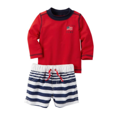 jcpenney.com | Carter's® 2-pc. Long-Sleeve Rashguard and Swimsuit Set - Baby Boys newborn-24m