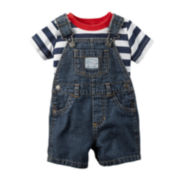 Carter's® 4th of July Top & Denim Shortall Set - Baby Boys newborn-24m