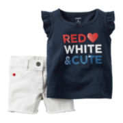 Carter's® 4th of July Top and Shorts Set - Baby Girls newborn-24m