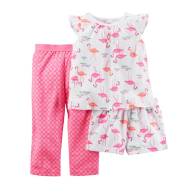 jcpenney.com | Carter's® 3-pc. Flamingo Pajama Set - Baby Girls newborn-24m