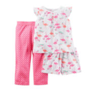 Carter's® 3-pc. Flamingo Pajama Set - Baby Girls newborn-24m