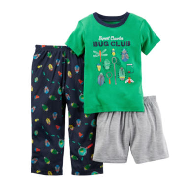 jcpenney.com | Carter's® 3-pc. Bug Club Pajama Set - Baby Boys 12m-24m