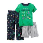 Carter's® 3-pc. Bug Club Pajama Set - Baby Boys 12m-24m