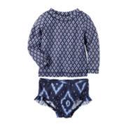 Carter's® Long-Sleeve Rashguard Set - Baby Girls newborn-24m