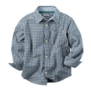 Carter's® Long-Sleeve Plaid Cotton Shirt - Toddler Boys 2t-5t