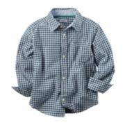 Carter's® Long-Sleeve Plaid Cotton Shirt - Toddler Boys 2t-5t
