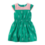 Carter's® Cap-Sleeve Geo-Print Dress - Toddler Girls 2t-5t