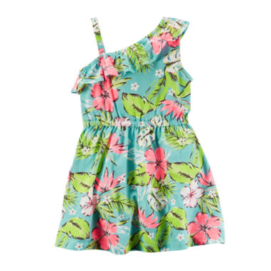 jcpenney.com | Carter's® Sleeveless Tropical Ruffled Dress - Toddler Girls 2t-5t