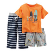 Carter's® 3-pc. Surf Dogs Pajama Set - Preschool Boys 4-7