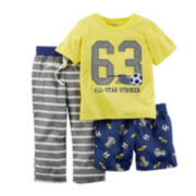 Carter's® 3-pc. Sport Pajama Set - Preschool Boys 4-7
