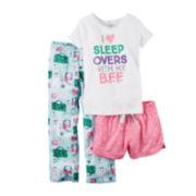 Carter's 3-pc. White Pajama Set - Preschool Girls 4-7