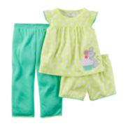 Carter's® 3-pc. Yellow Dot Pajama Set – Preschool Girls 4-7