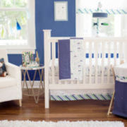 My Baby Sam Follow Your Arrow Navy 3-pc. Baby Bedding