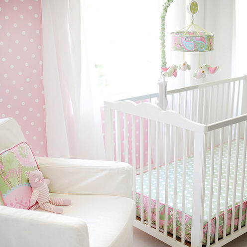 My Baby Sam Pixie Baby In Pink Bumperless Crib Sheet