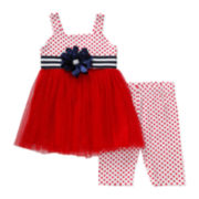 Youngland® Americana Mini Dress and Shorts Set - Toddler Girls 2t-4t
