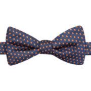 JF J. Ferrar® Chambray Dot Pre-Tied Bow Tie