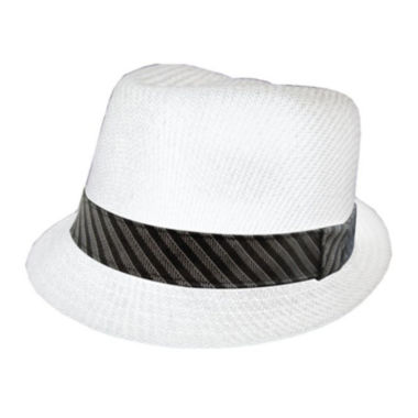 jcpenney.com | St. John's Bay® Straw Fedora with Striped Hatband