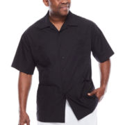 Havanera™ Short-Sleeve Guayabera Button-Front Camp Shirt - Big & Tall