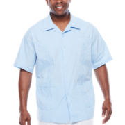 Havanera™ Guayabera Short-Sleeve Button-Front Camp Shirt - Big & Tall