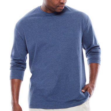 jcpenney.com | The Foundry Supply Co.™ Long-Sleeve Solid Cotton Tee - Big & Tall