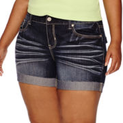 Ariya™ Curvy-Fit Denim Shorts - Juniors Plus