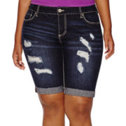 Ariya™ Curvy-Fit Denim Bermuda Shorts - Juniors Plus