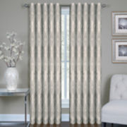 Buzby Metallic Rod-Pocket Curtain Panel