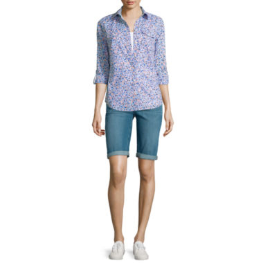 jcpenney.com | St. John's Bay® Camp Shirt, Essential Tank Top or Bermuda Shorts