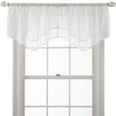 jcpenney.com | MarthaWindow™ Voile Double-Layered Ascot Valance