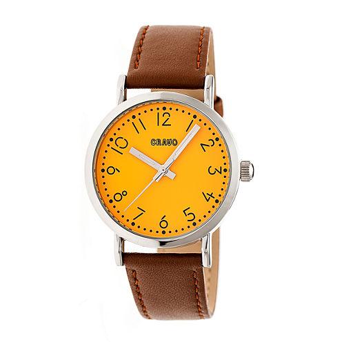 Crayo Pride Unisex Brown Strap Watch-Cracr3802