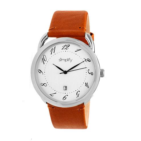 Simplify The 4900 Unisex Brown Strap Watch-Sim4901