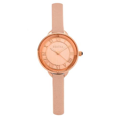 Bertha Madison Womens Pink Strap Watch-Bthbr6706