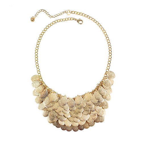 Bold Elements™ Layered Disc Bib Necklace