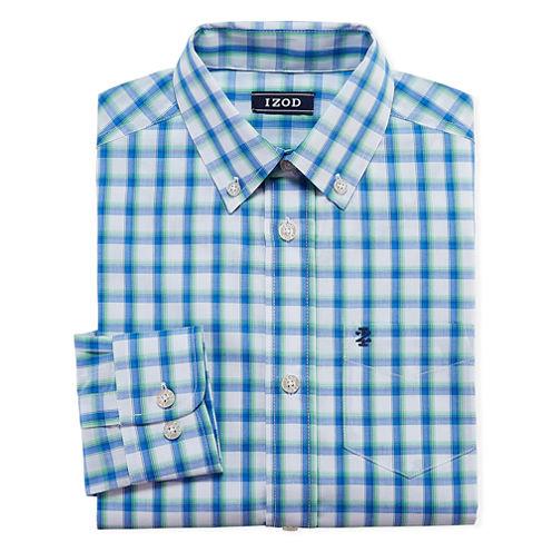 Izod Long Sleeve Woven Dress Shirt Big Kid Boys Jcpenney