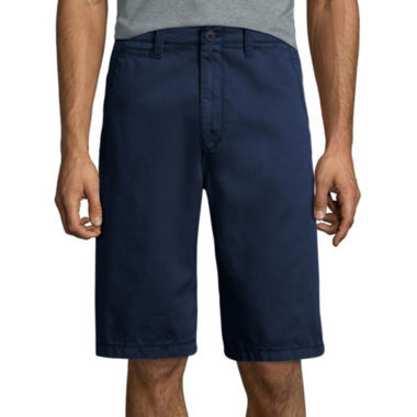 "jcpenney.com | Arizona 12"" Inseam Longboard Flat-Front Cotton Shorts"