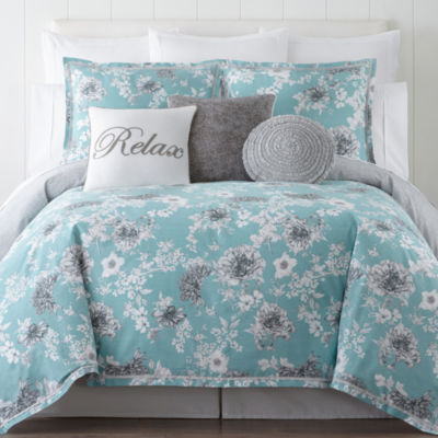 Jcpenney Home Pencil Floral 4 Pc Comforter Set Color
