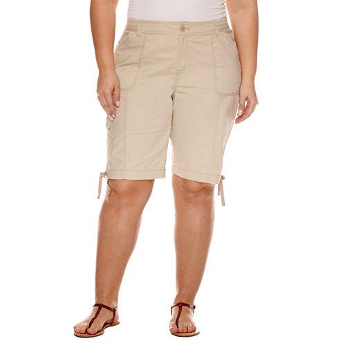 "St. John's Bay® Bermuda Shorts - Plus (11.5"")"