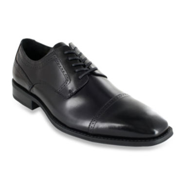 jcpenney.com | Stacy Adams® Waltham Mens Leather Cap Toe Lace Oxford Dress Shoes