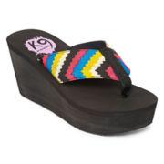 K9 by Rocket Dog® Dahlia Wedge Flip Flops