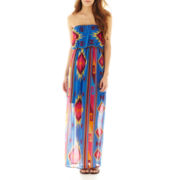 Ruby Rox Strapless Aztec Print Maxi Dress
