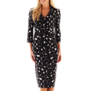 Le Suit Dot Print Skirt Suit