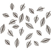 Umbra® Set of 24 Natura Leaf Wall Decor - Espresso
