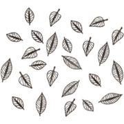 Umbra® Set of 24 Natura Leaf Wall Decor - Espresso