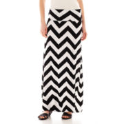 a.n.a® Chevron Print Foldover Maxi Skirt