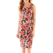 Black Label by Evan-Picone Sleeveless Print Dress