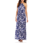 Bisou Bisou® High-Neck Blouson Maxi Dress