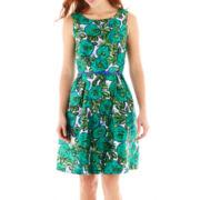 Liz Claiborne Sleeveless Floral Print Dress