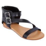 Mixit™ Asymmetrical Two-Buckle Sandals