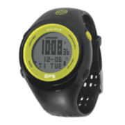 Soleus GPS Fit Mens Black Silicone Strap Chronograph Sport Watch